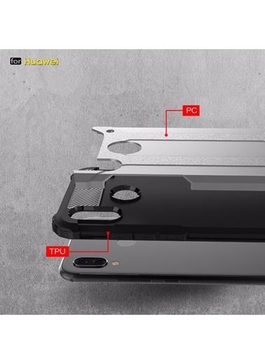 Microsonic Huawei P Smart 2019 Kılıf Rugged Ar  Gümüş